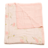 Deluxe Muslin Quilt in Pink Peony  - The Project Nursery Shop - 1
