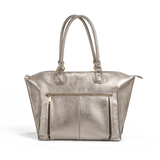 Lily Tote Diaper Bag Pewter - The Project Nursery Shop - 3