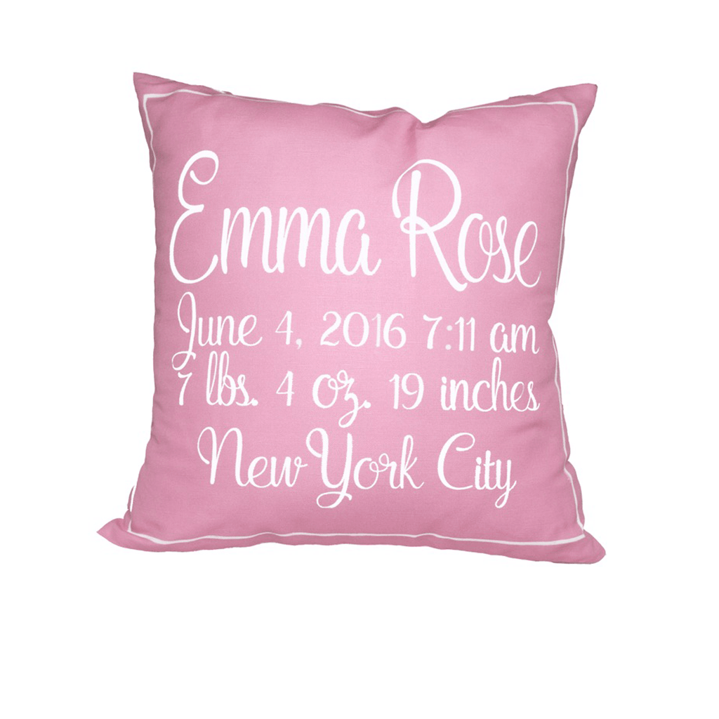 Birth Announcement Pillow  - The Project Nursery Shop - 1