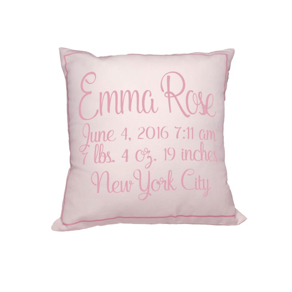 Birth Announcement Pillow  - The Project Nursery Shop - 2