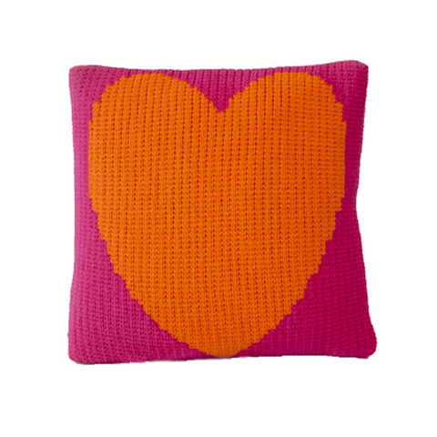 Little Oasis Knitted Pillow - Pale Pink