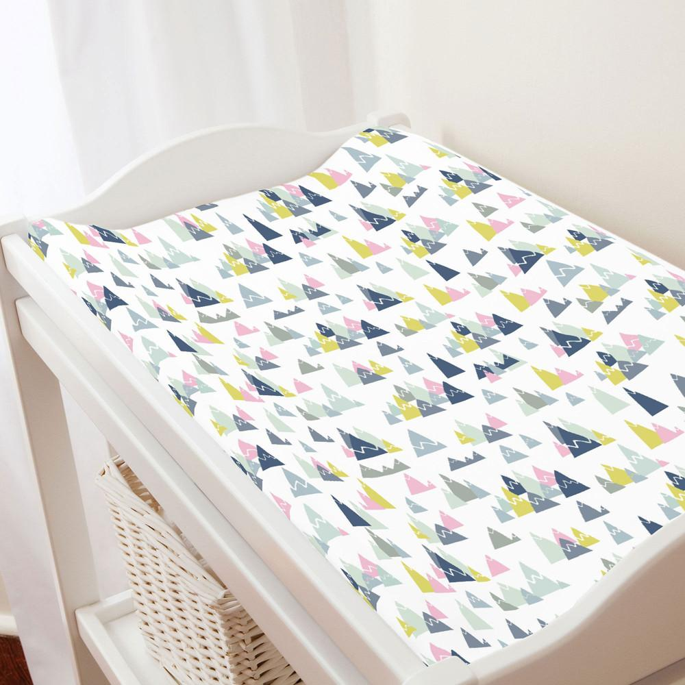 Pink Mountains Changing Pad Cover