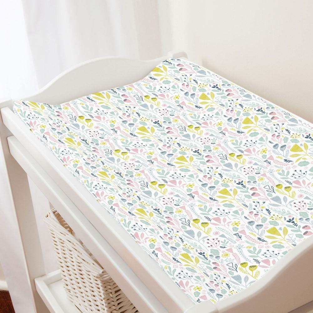 Pink Woodland Changing Pad Cover