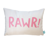 Dinosaur RAWR! Pillow Cover Pink - The Project Nursery Shop - 2