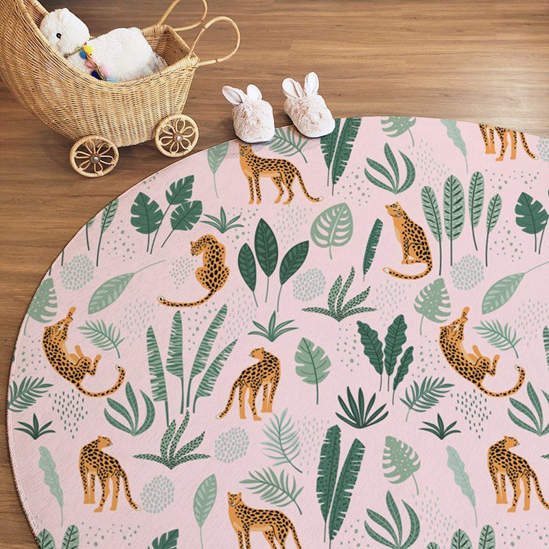 Tropical Cheetah Kids Rug - Project Nursery