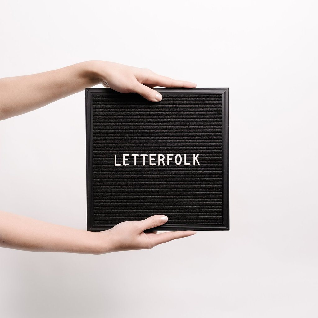 Letterfolk - The Poet Letter Board - Project Nursery