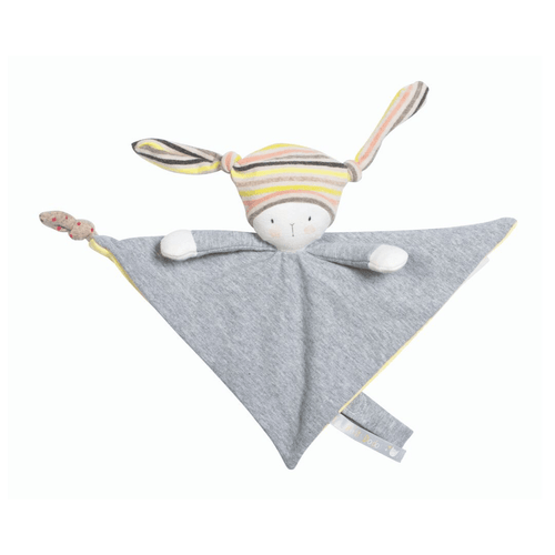 Nin-Nin The Rabbit Lovey with Pacifier Holder - Project Nursery