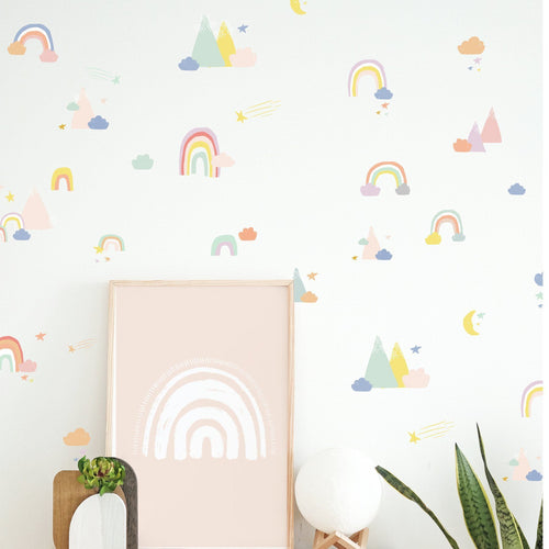 Rainbow Mountain Skies Wall Decal Wall Decals The Lovely Wall Company