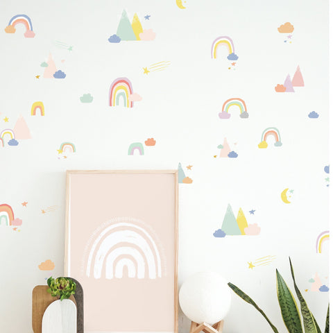 Rainbow Wall Decal Set - Violet + Lavender