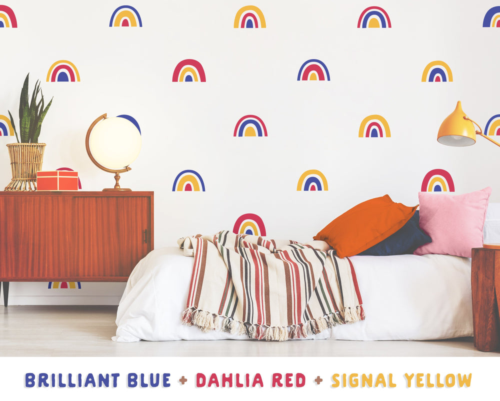 Brilliant Blue + Dahlia Red + Signal Yellow