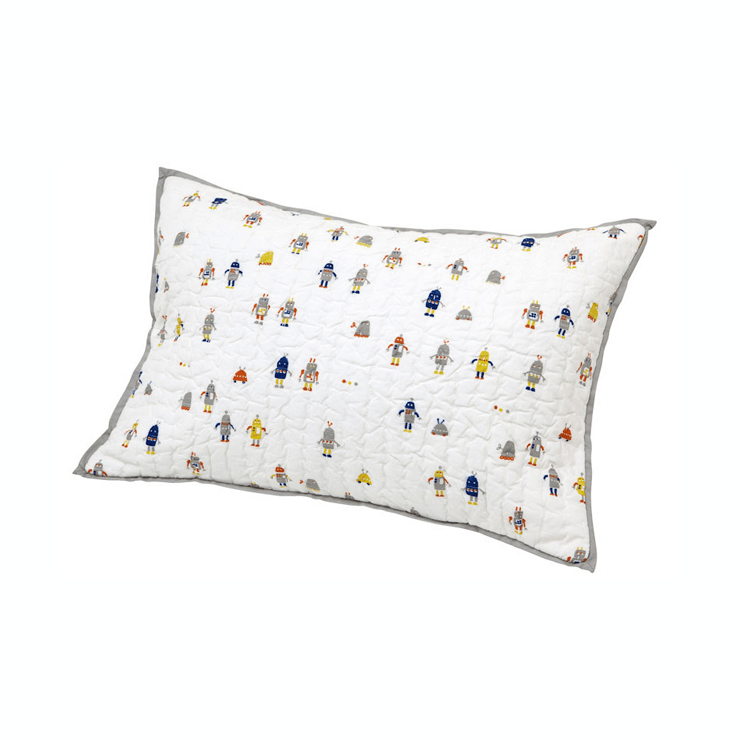 Robot March Pillow Cover  - The Project Nursery Shop - 1
