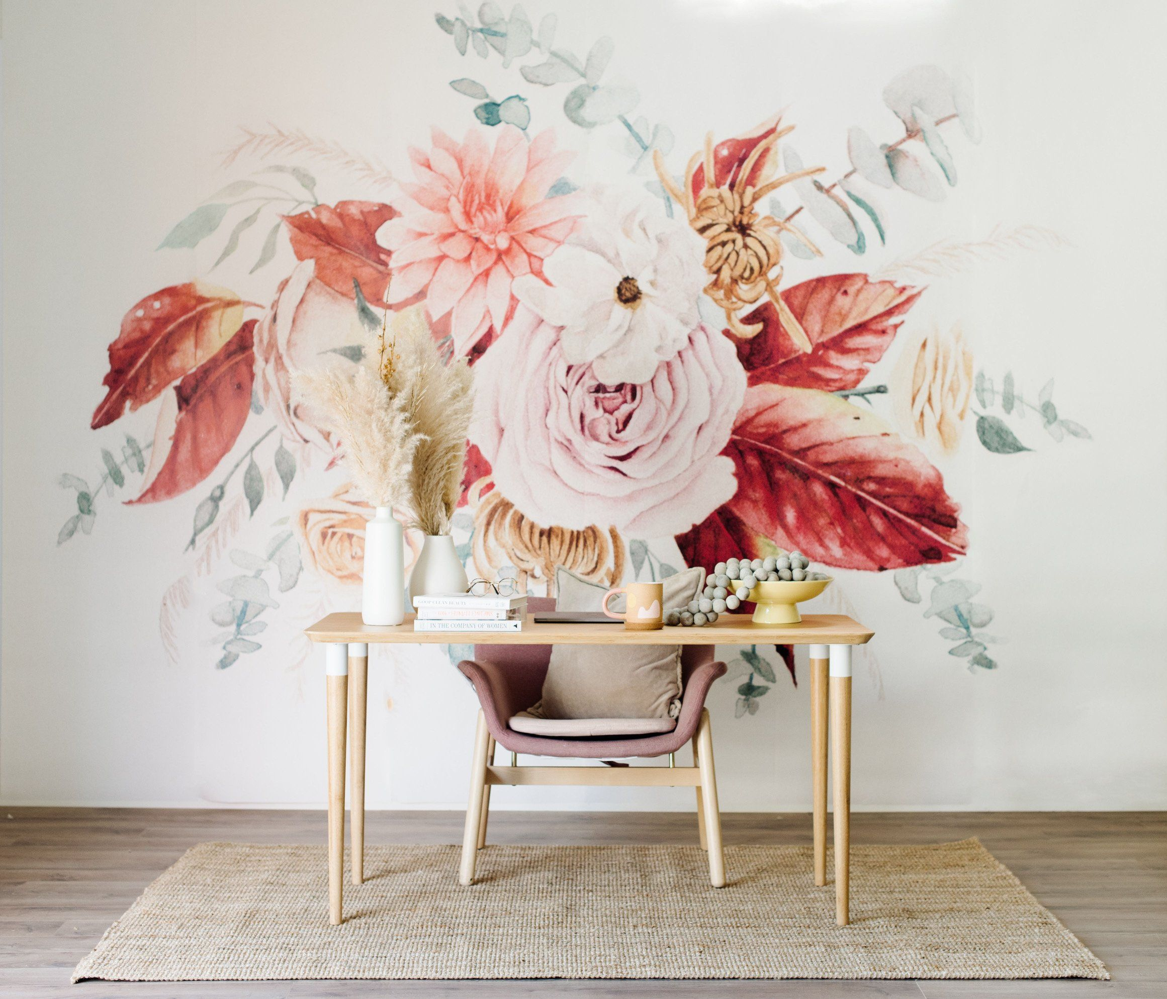 Rosey Wallpaper - Project Nursery