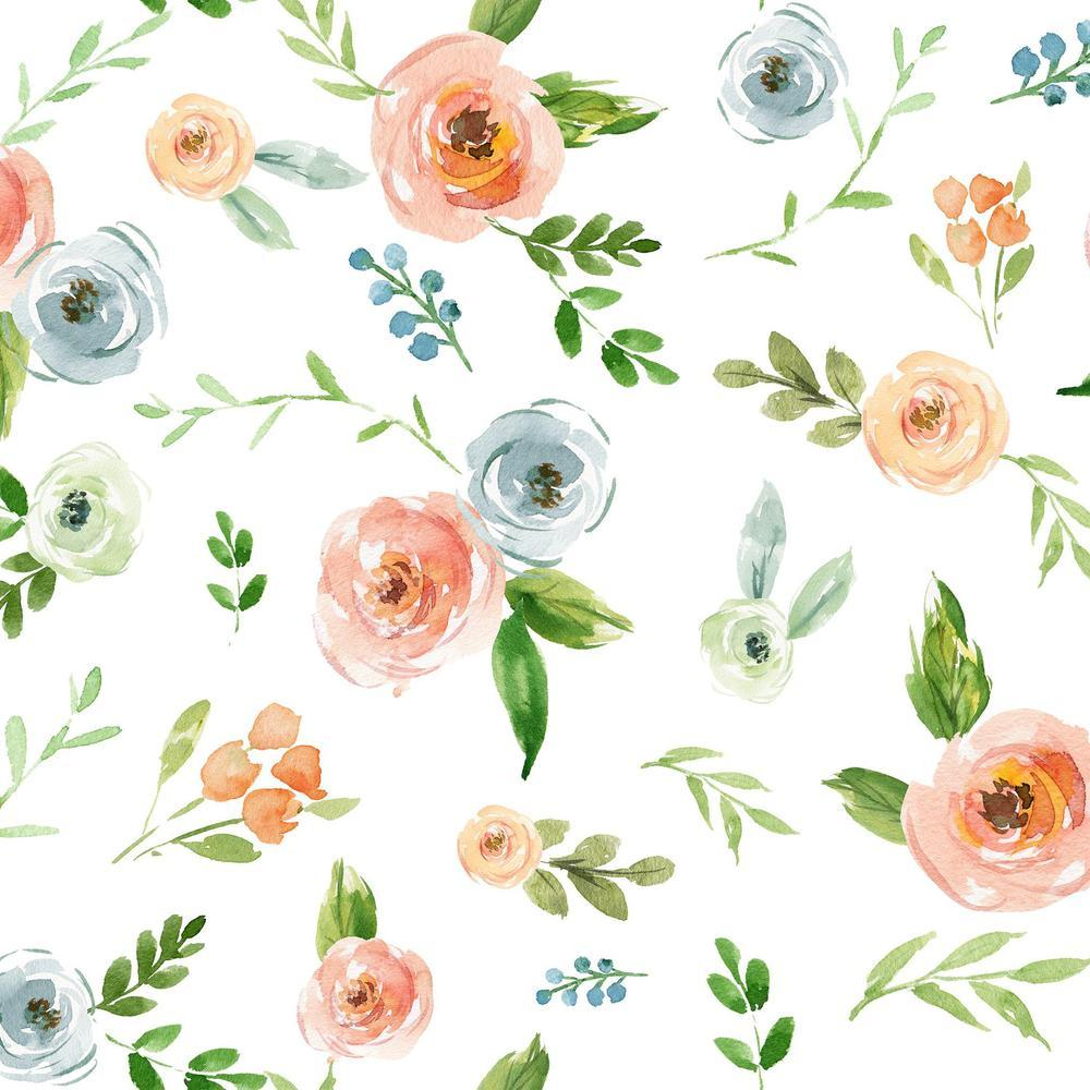 Rosie Peach Wallpaper - Project Nursery