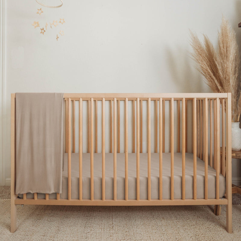 Organic Bamboo Crib Sheet - Sand - Project Nursery