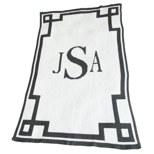 Monogram and Scroll Blanket - Project Nursery