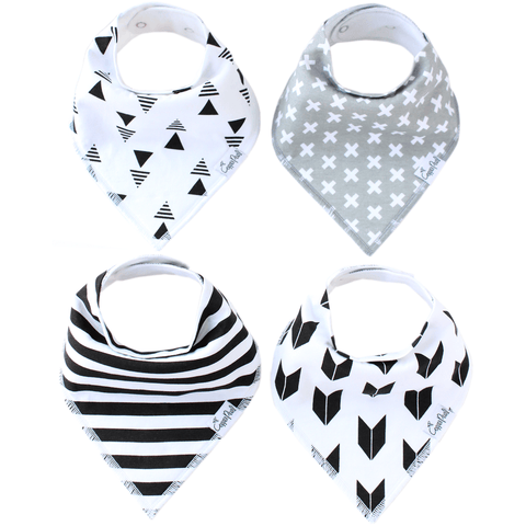 Cotton Bandana Bib Set in Morning Glory