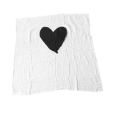 Single Heart Organic Cotton Swaddle  - The Project Nursery Shop