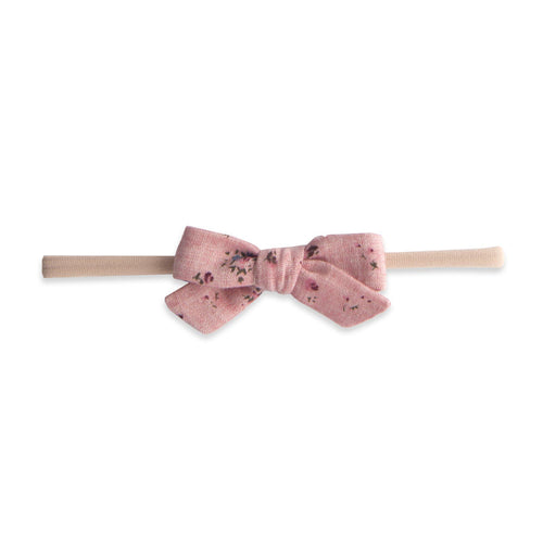 Floral Printed Linen Bow Headband - Project Nursery