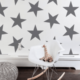 Lucky Star Wallpaper Charcoal Roll - The Project Nursery Shop - 2