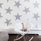 Lucky Star Wallpaper Silver Metallic Roll - The Project Nursery Shop - 1