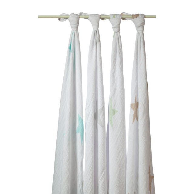 Classic Muslin Swaddle Set In Stars - Default
