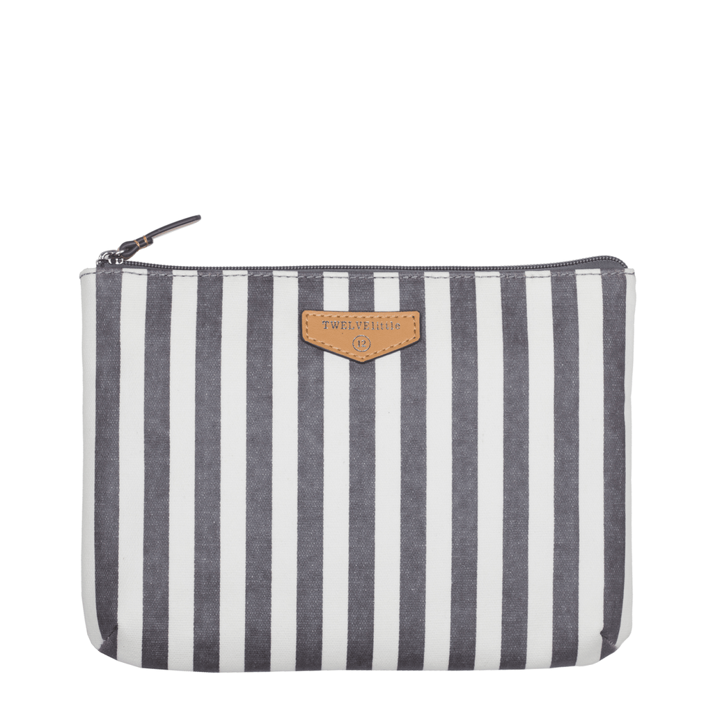 Easy Diaper Pouch Gray Stripe - The Project Nursery Shop - 1