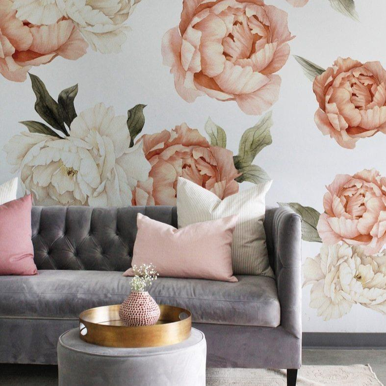 Summer Daze Peony Wall Decals - Project Nursery