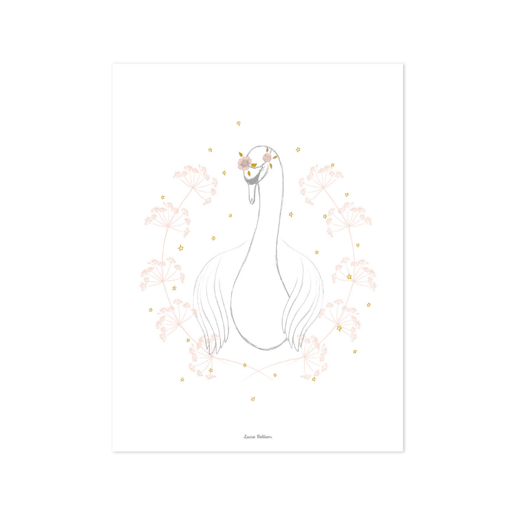 Swan Wall Print - Project Nursery