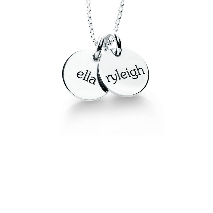 Elle 2 Tags Necklace  - The Project Nursery Shop - 1