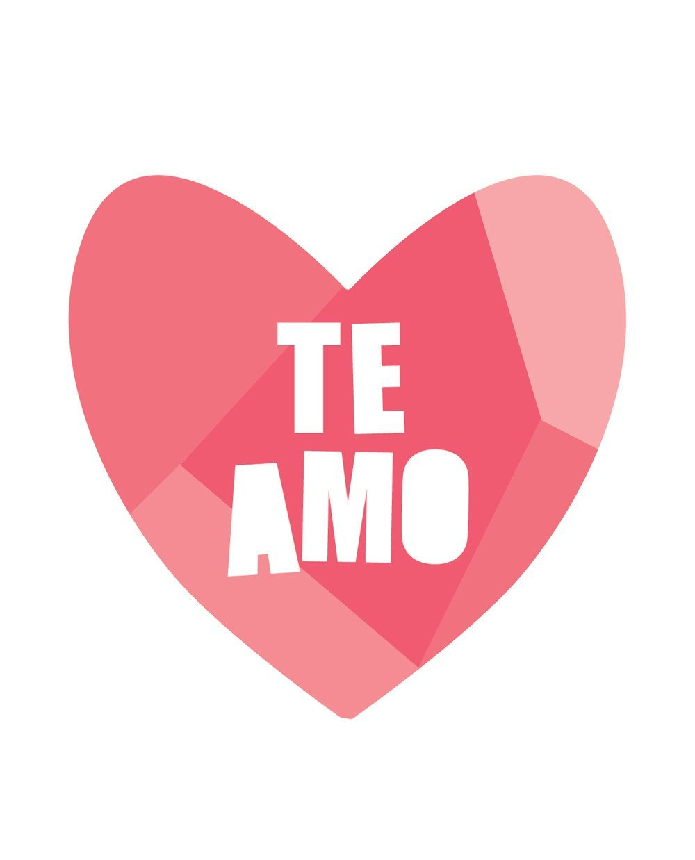 Te Amo Print Project Nursery