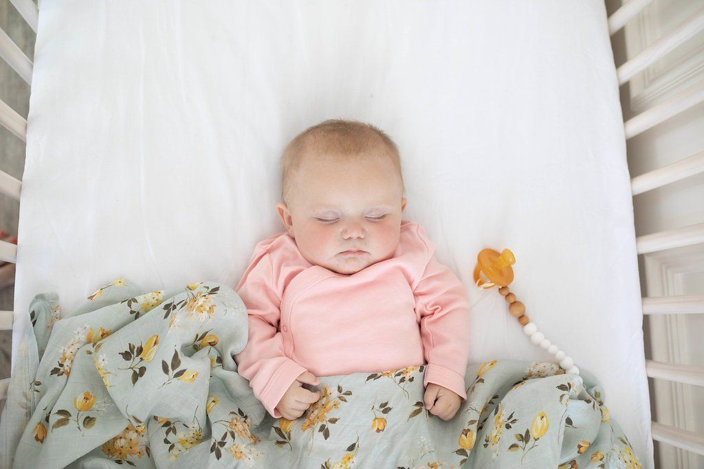 Wild Rose Swaddle Blanket - Project Nursery