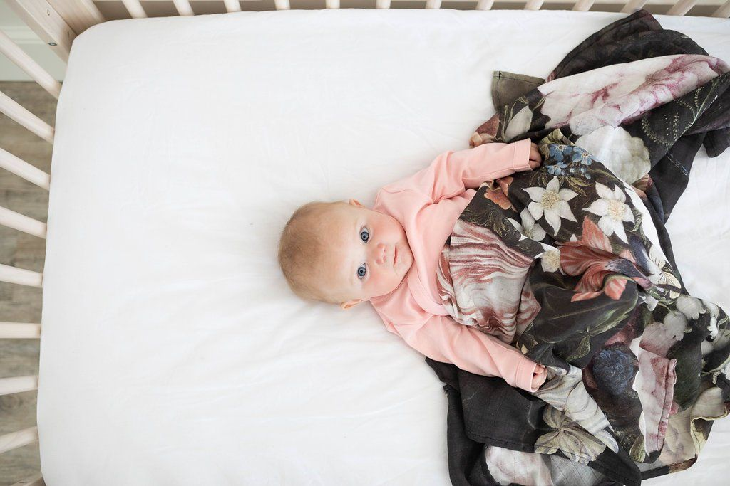 Tuscan Floral Swaddle Blanket - Project Nursery