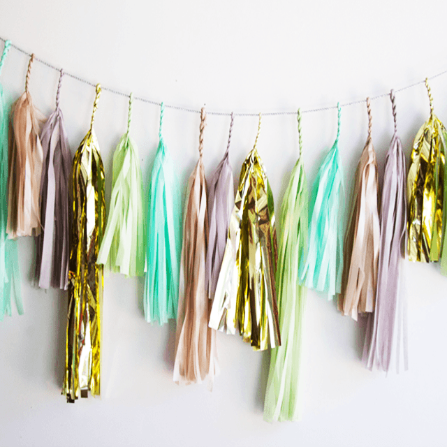 Mint Julep Tassel Garland  - The Project Nursery Shop - 1