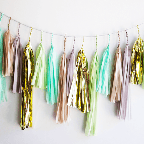Mint Julep Tassel Garland - Project Nursery