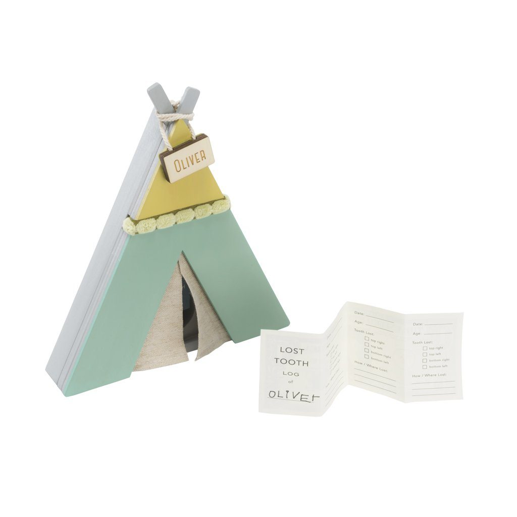 Wooden Tooth Fairy TeePee - Green - Project Nursery