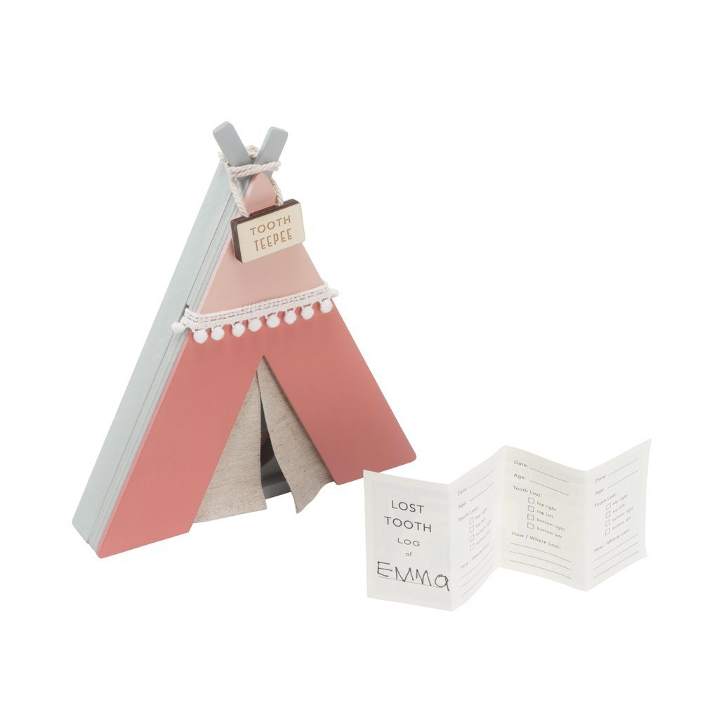 Wooden Tooth Fairy TeePee - Pink - Project Nursery