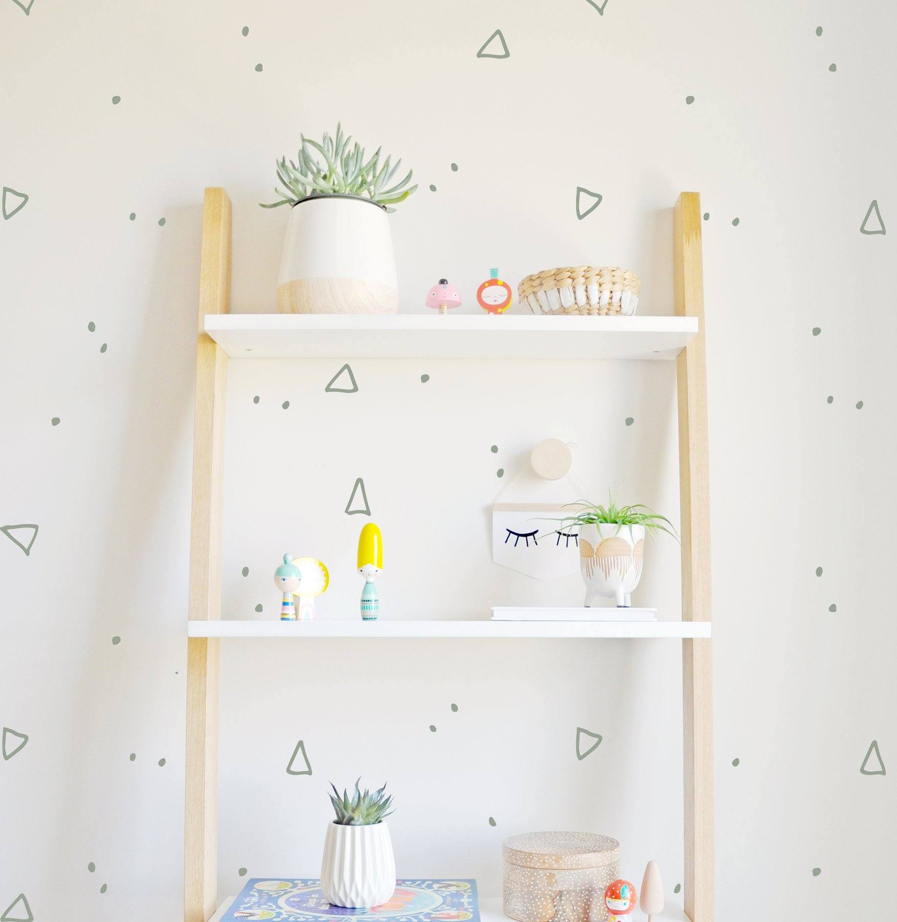 Hand Drawn Triangle and Dots Wall Decal - Project Nursery