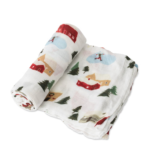 Winter Village Deluxe Muslin Swaddle - Project Nursery