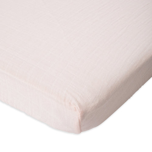 Blush Cotton Muslin Mini Crib Sheet - Project Nursery