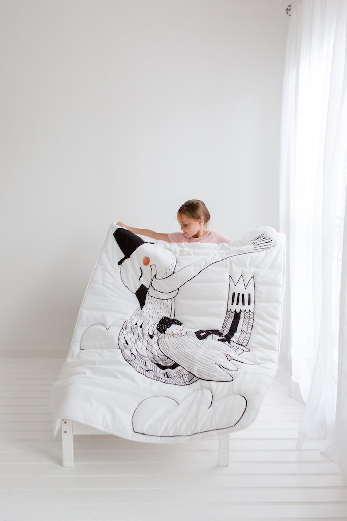 Swan Toddler Comforter - Project Nursery