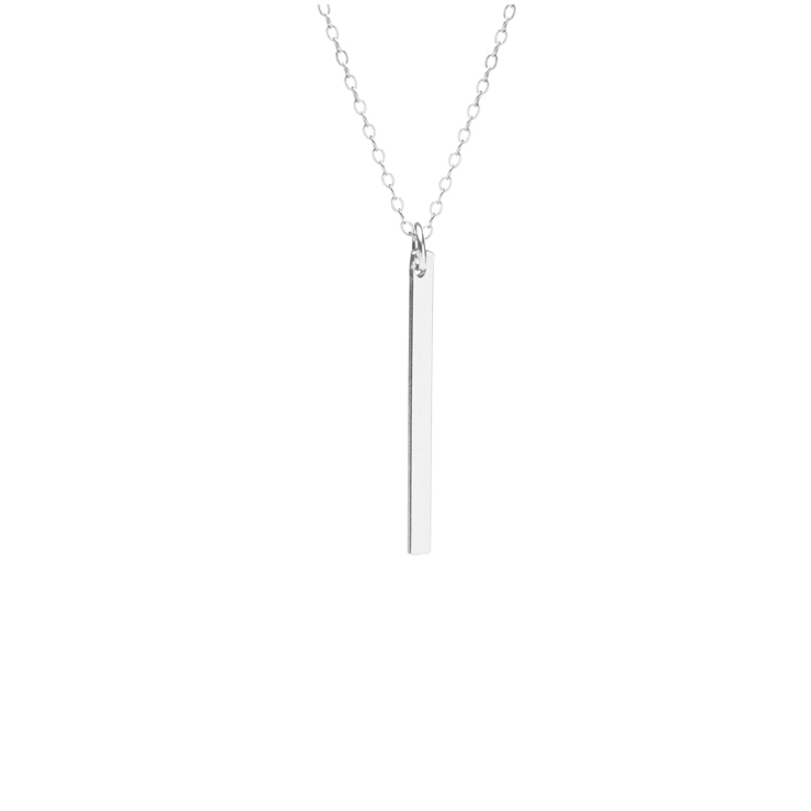 Vertical Bar Necklace Silver - The Project Nursery Shop - 1