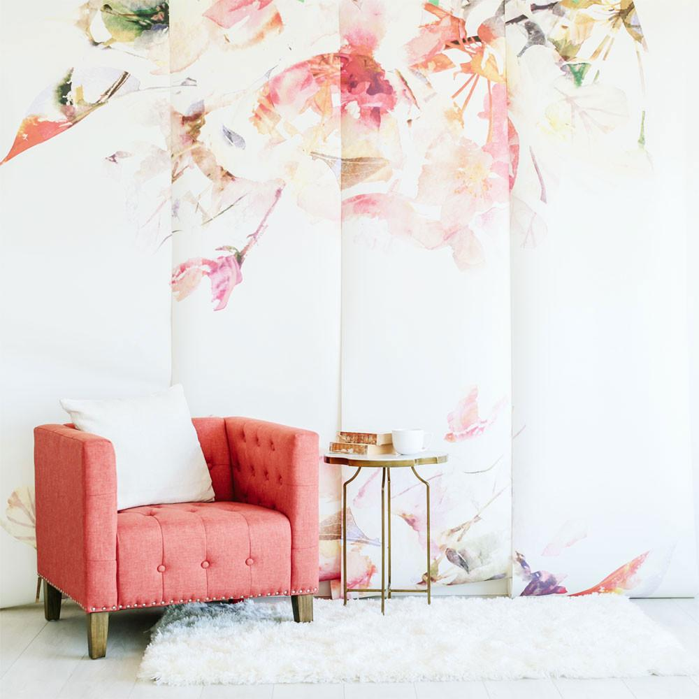 Contemporary Spring Floral Wallpaper - Project Nursery