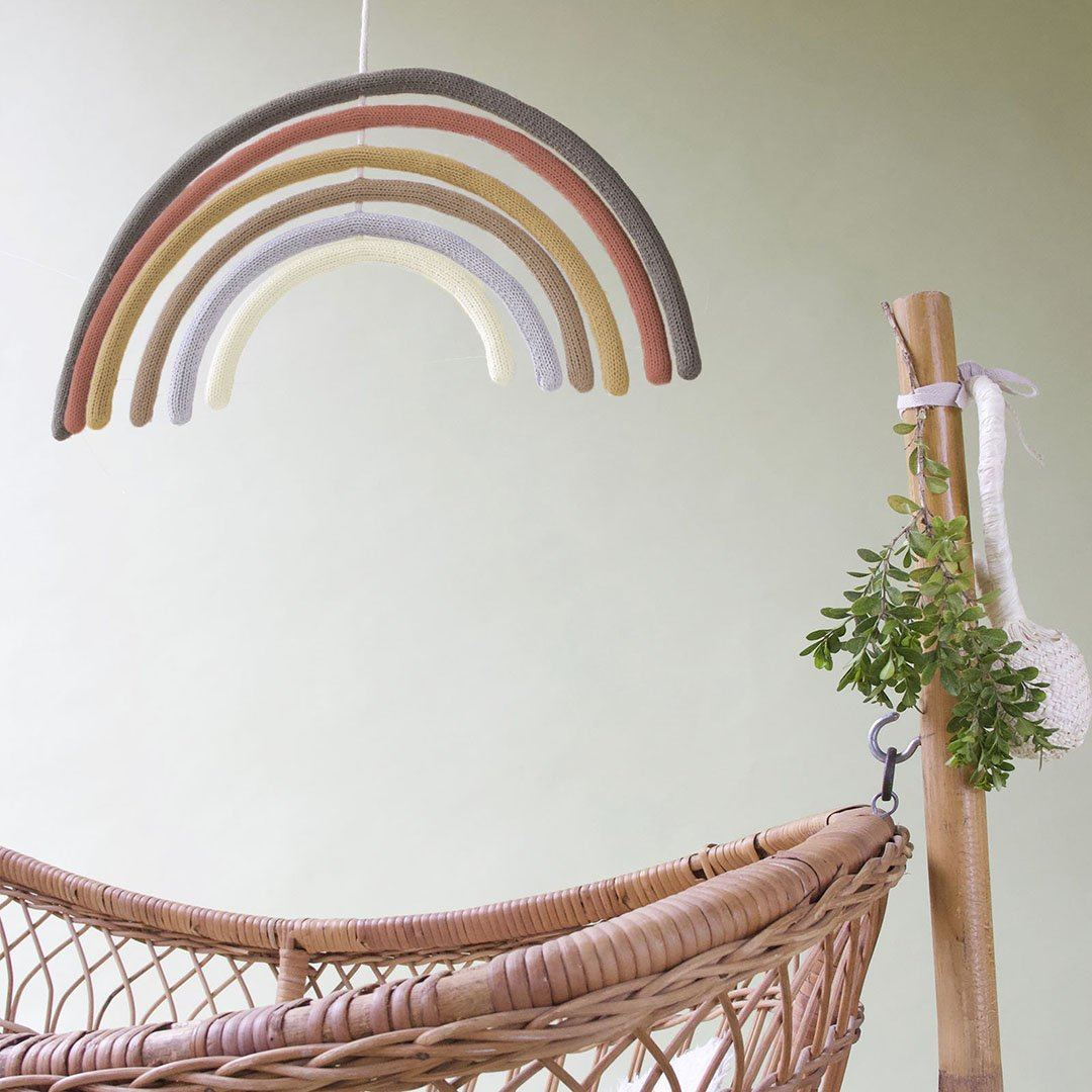 Rainbow Wall Hanging + Mobile - Adobe - Project Nursery