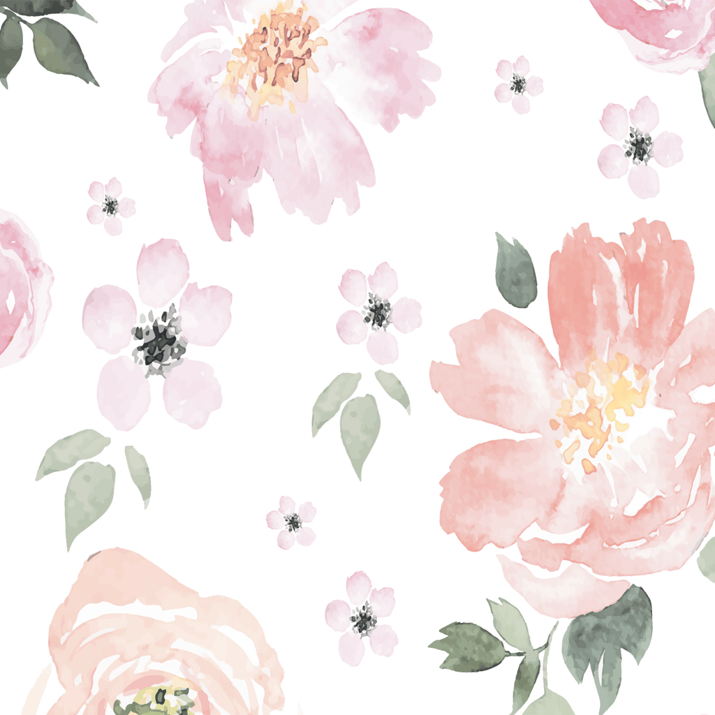Jolie wallpaper shop project nursery for Cadre floral mural