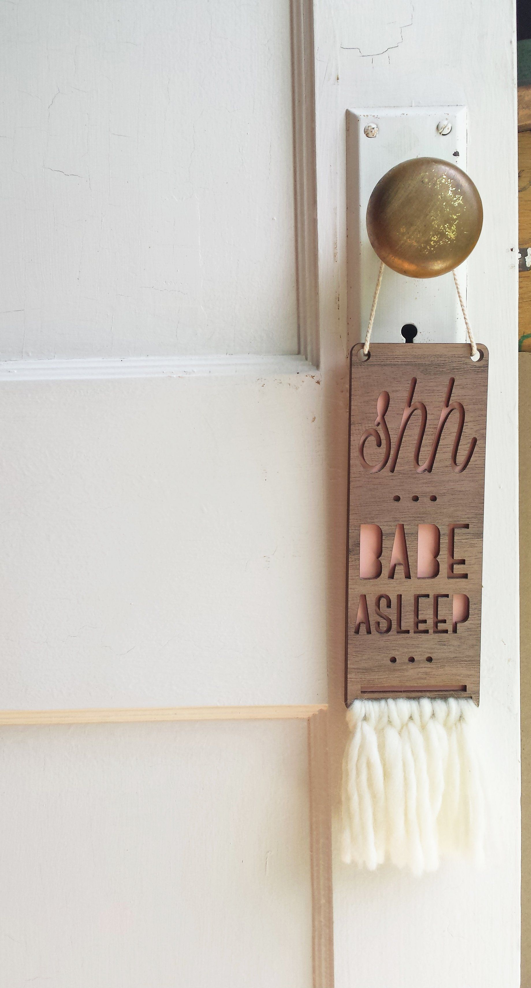 Babe Asleep Baby Door Sign - Project Nursery