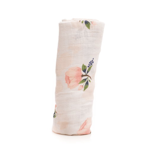 Watercolor Rose Swaddle - Project Nursery