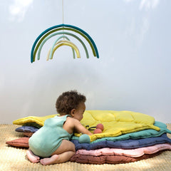 Rainbow Wall Hanging in Woodland - Project Nursery