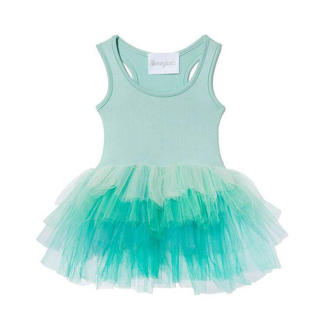 Ombre Tutu Leotard - Honor Blue