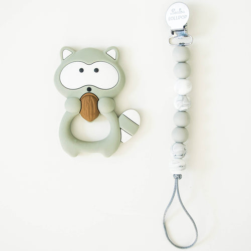 Raccoon Teether with Clip - Project Nursery