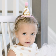 Birthday Party Hat - Gold Glitter - Project Nursery